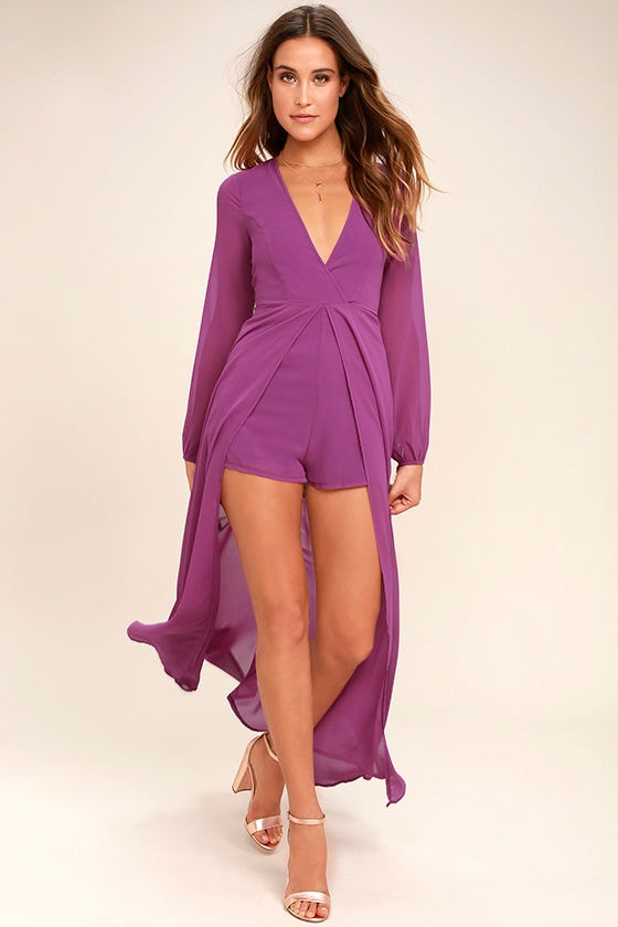Gone with the Whirlwind Magenta Romper 1