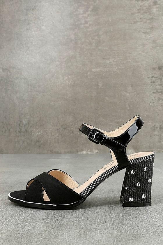 Chelsea Crew Sandra Black Ankle Strap Heels 1