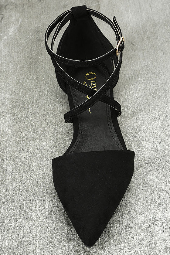 Rayna Black Suede Pointed Flats 5