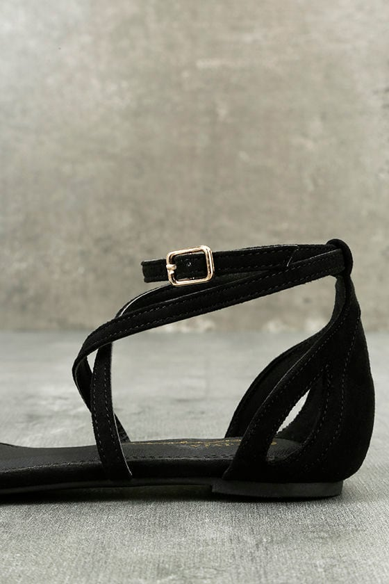 Rayna Black Suede Pointed Flats 7