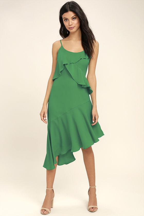 Adelyn Rae Desdemona Green Midi Dress 1
