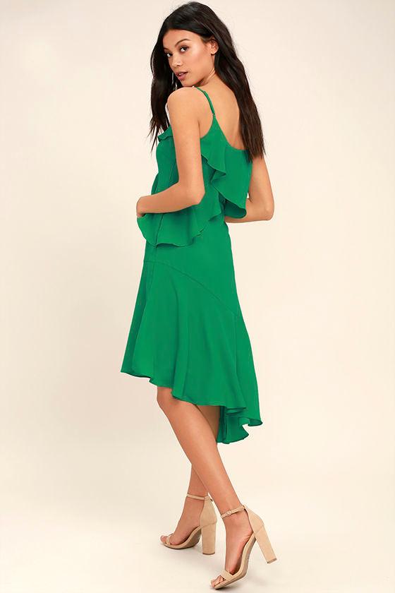 Adelyn Rae Desdemona Green Midi Dress 3