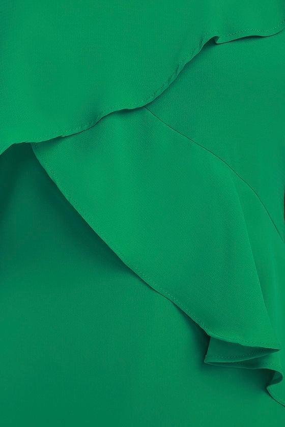 Adelyn Rae Desdemona Green Midi Dress 6