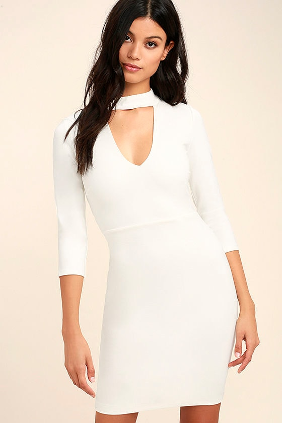 Seven Wonders Ivory Bodycon Dress 1