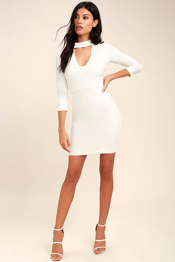 Seven Wonders Ivory Bodycon Dress 2