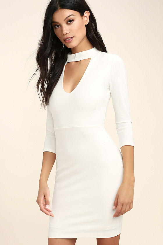 Seven Wonders Ivory Bodycon Dress 3