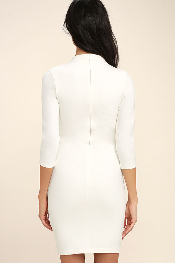 Seven Wonders Ivory Bodycon Dress 4