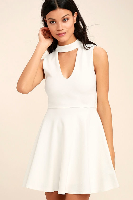 Loving You is Easy White Skater Dress 1