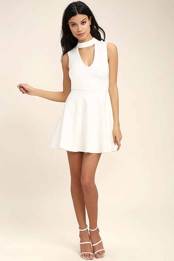 Loving You is Easy White Skater Dress 2