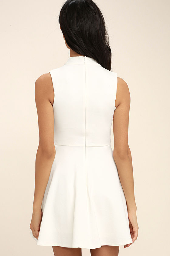 Loving You is Easy White Skater Dress 4