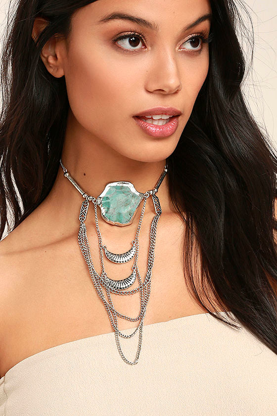 Style Revolution Turquoise and Silver Necklace 1