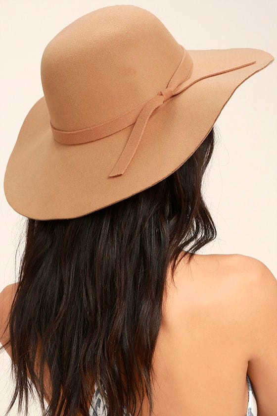 8d2cba278c2866 Cute Tan Hat - Floppy Hat - Rounded Top Hat - $15.00