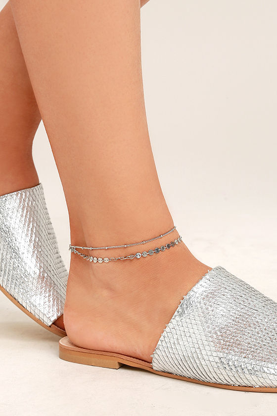 213f69a92 Cute Silver Anklet - Chain Anklet - Boho Ankle Bracelet - Foot Bracelet -   12.00