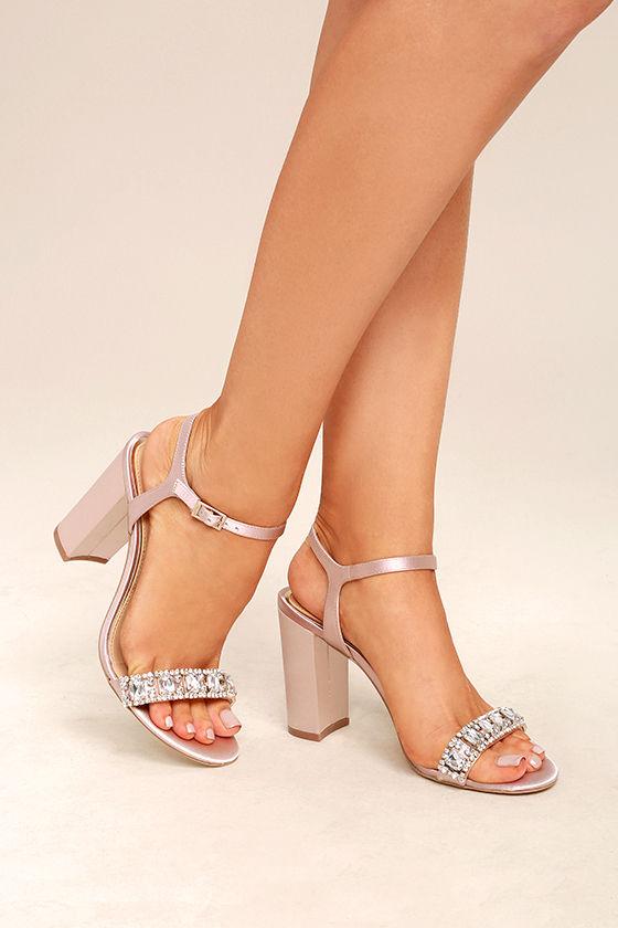 1de0f3dee75 Jewel by Badgley Mischka Hendricks Champagne - Dress Sandals - Rhinestone  Heels