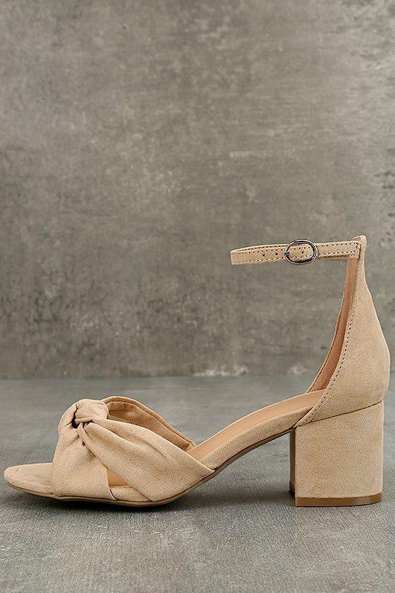Lalita Natural Suede Ankle Strap Heels 2