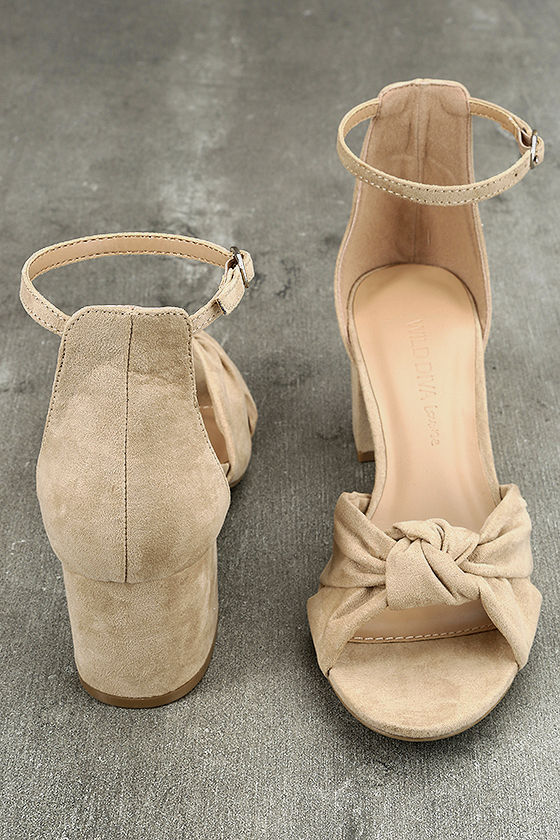 Lalita Natural Suede Ankle Strap Heels 3