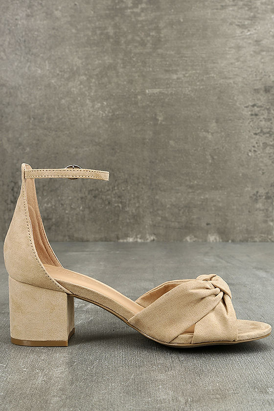 Lalita Natural Suede Ankle Strap Heels 4