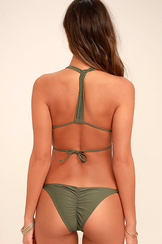 Trip of a Lifetime Olive Green Bikini 4