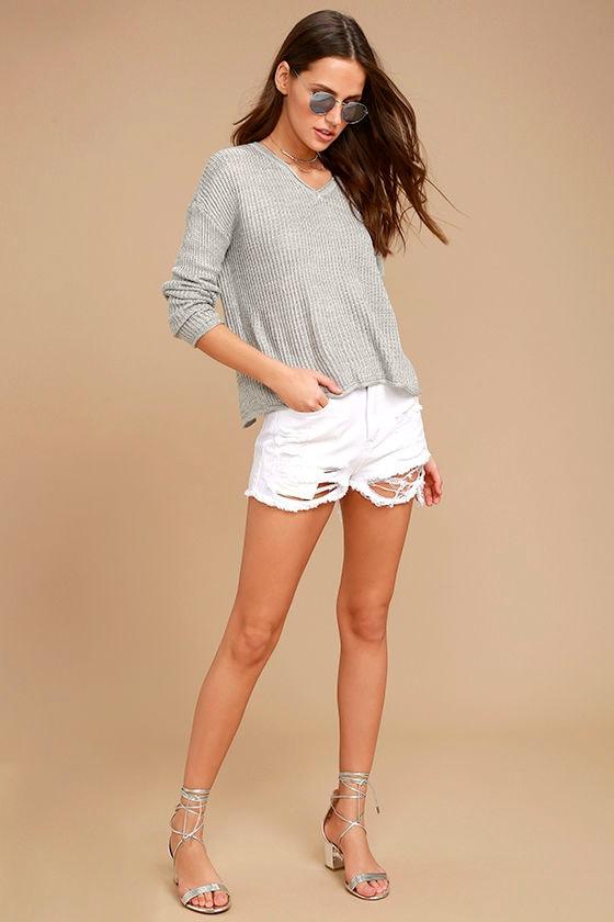 Olive & Oak Bali Light Grey Sweater 2