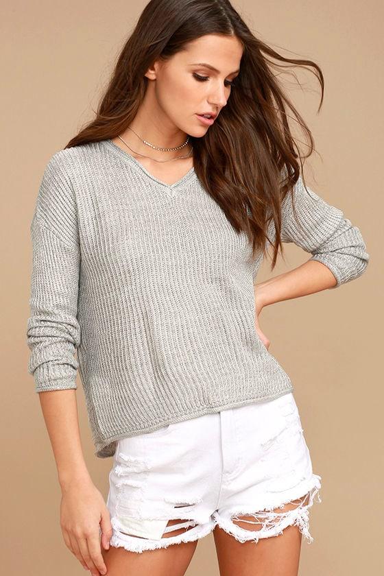 Olive & Oak Bali Light Grey Sweater 3