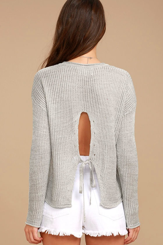 Olive & Oak Bali Light Grey Sweater 4