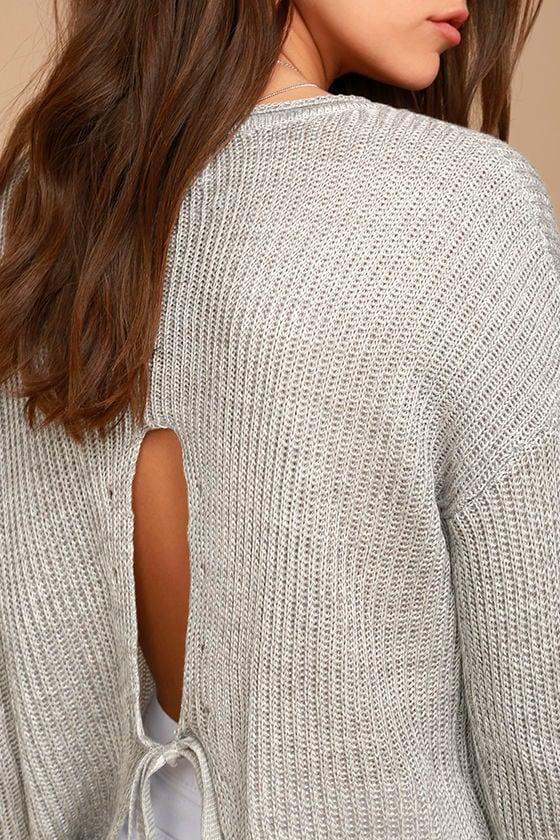 Olive & Oak Bali Light Grey Sweater 5