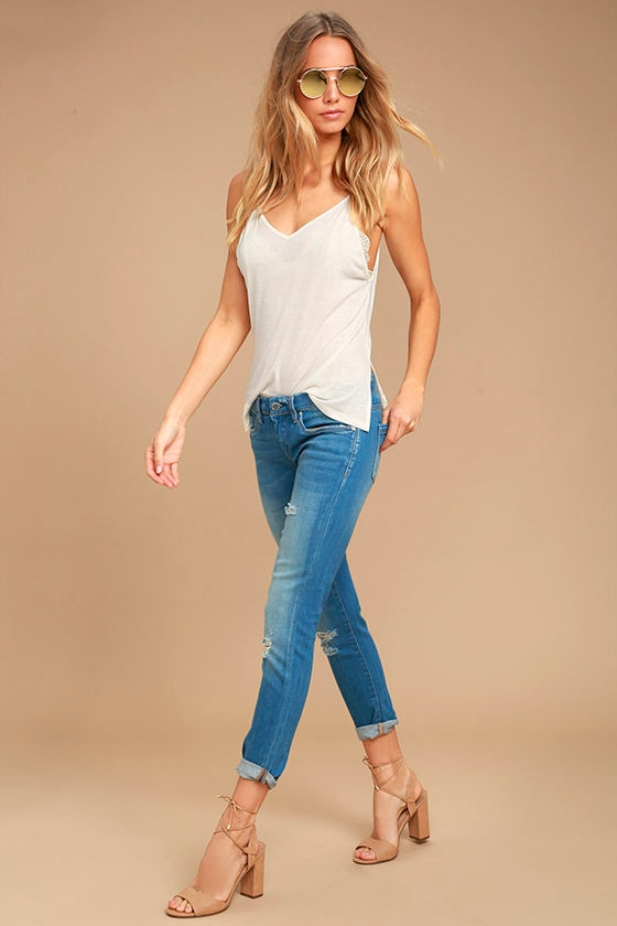 Blank NYC Skinny Classique Distressed Blue Skinny Jeans 1