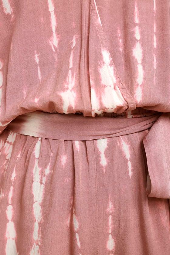 Walking on Air Mauve Pink Tie-Dye Romper 6