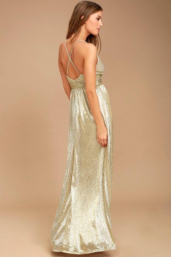 Xoxo gold maxi dress