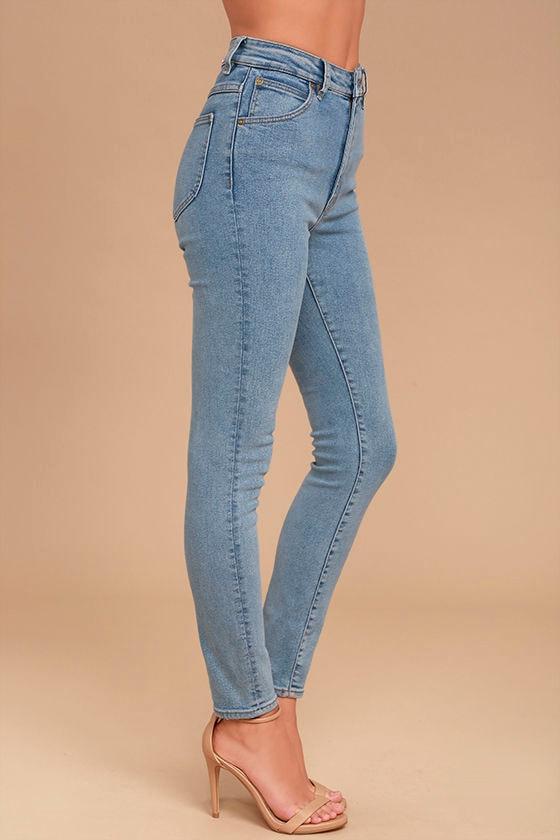 Rollas Eastcoast Staple Light Wash High-Waisted Skinny Jeans 3