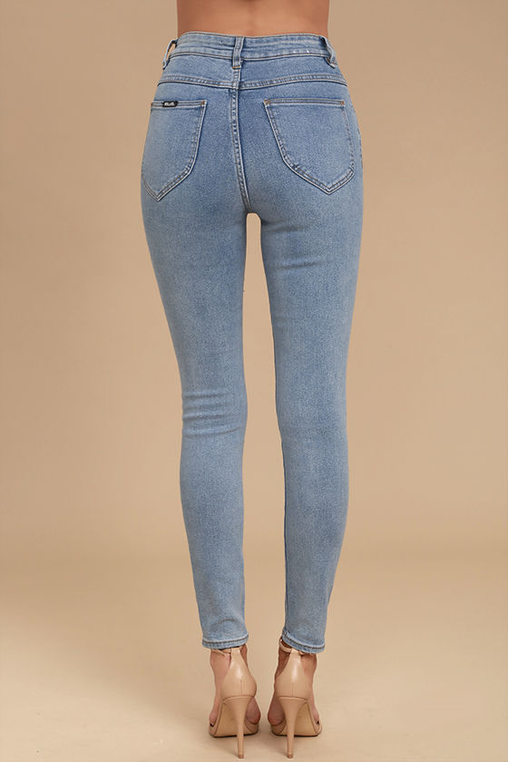 Rollas Eastcoast Staple - Light Wash Jeans - High-Waisted Jeans ...