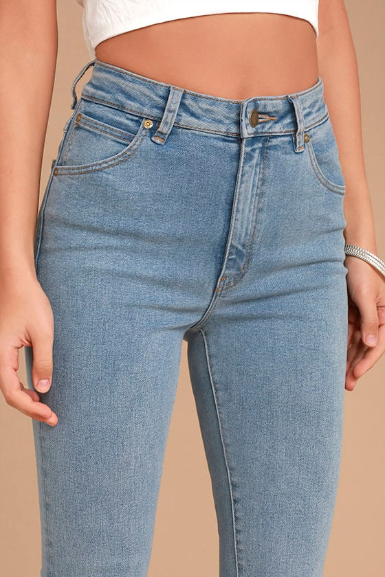 Rollas Eastcoast Staple Light Wash High-Waisted Skinny Jeans 5