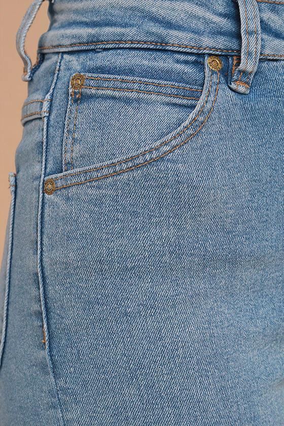 Rollas Eastcoast Staple Light Wash High-Waisted Skinny Jeans 6