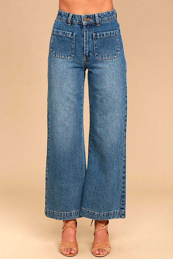 Rollas Sailor Flare Medium Wash High-Waisted Jeans 3