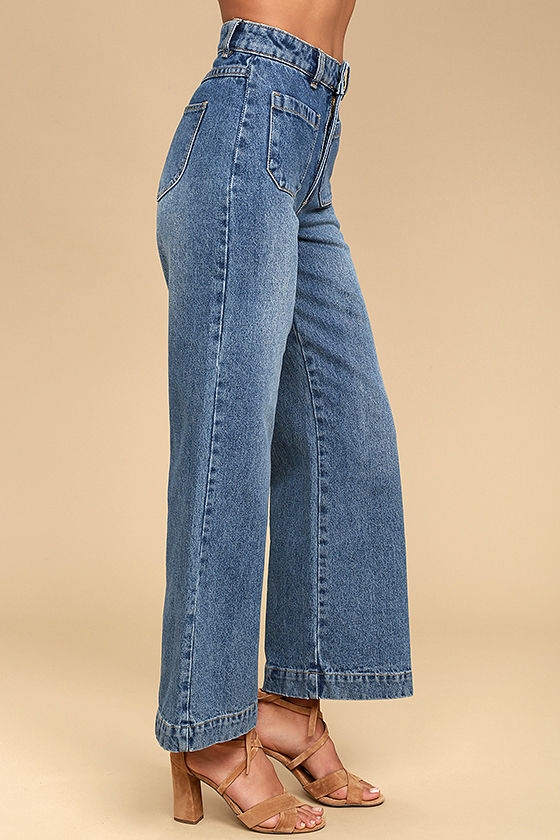 Rollas Sailor Flare Medium Wash High-Waisted Jeans 4