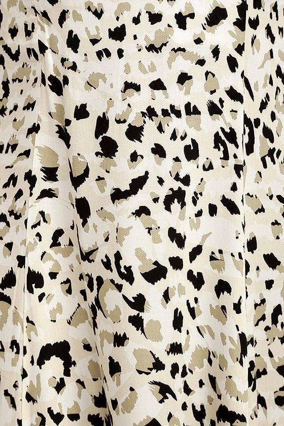 Mink Pink Sumatra Beige Leopard Print Midi Dress 6