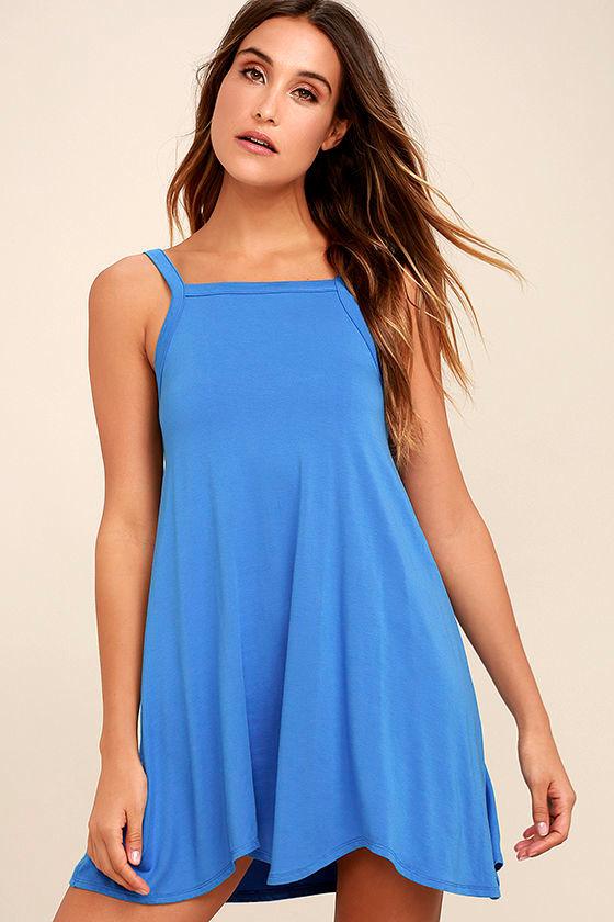 RVCA Thievery Blue Dress 1