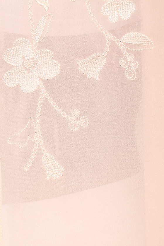 Posy Parlor Blush Pink Embroidered Kimono Top 6