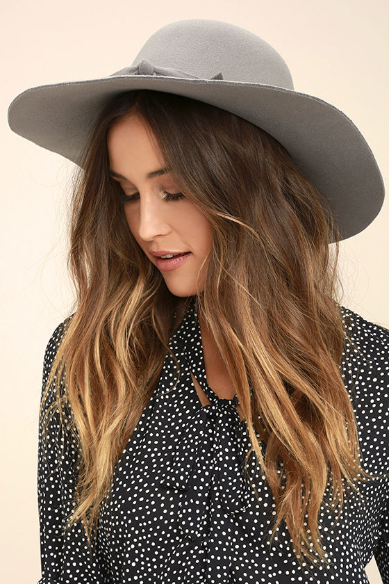 140a5c64250 Cute Grey Hat - Floppy Hat - Rounded Top Hat -  15.00