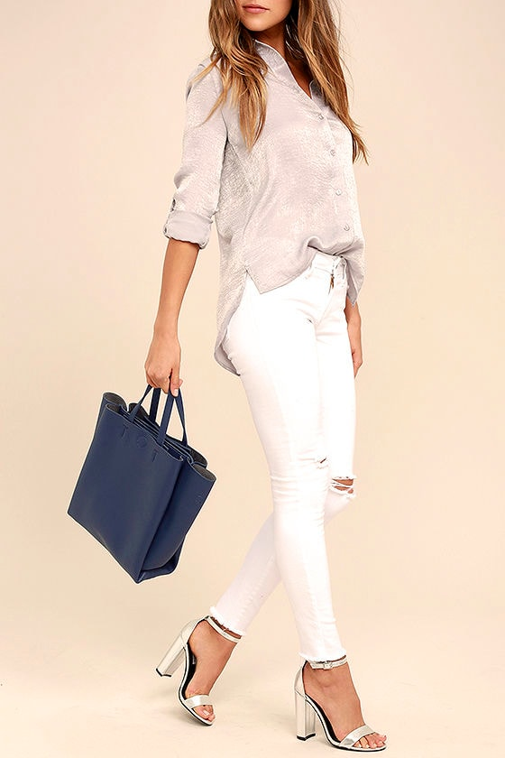 Daily Joy Navy Blue Tote 1