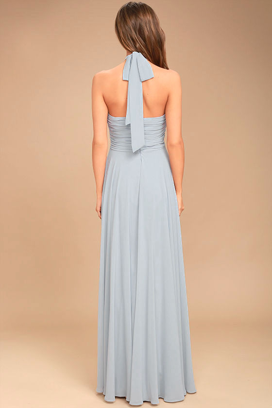 Dance of the Elements Blue Grey Maxi Dress 5