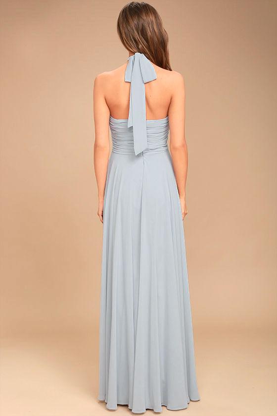 Dance of the Elements Blue Grey Maxi Dress 5