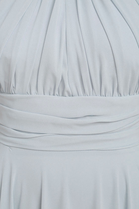 Dance of the Elements Blue Grey Maxi Dress 7