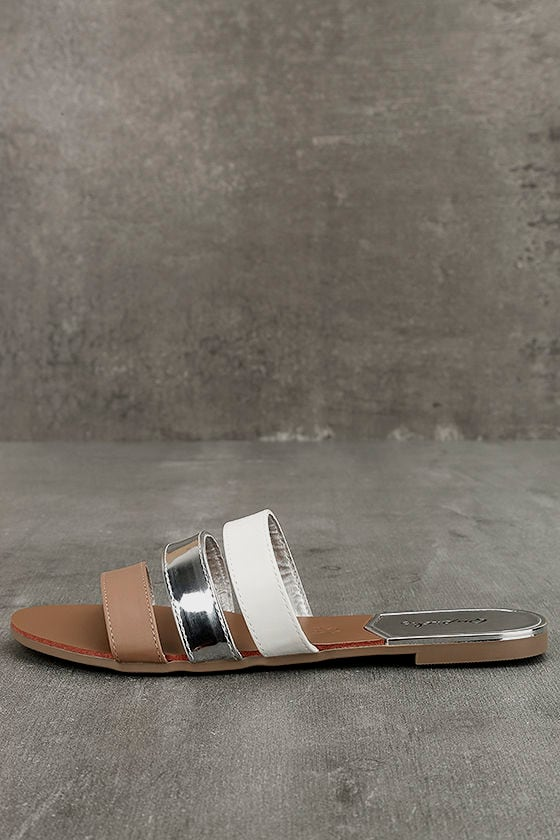 Amaryllis Toffee Brown Slide Sandals 1