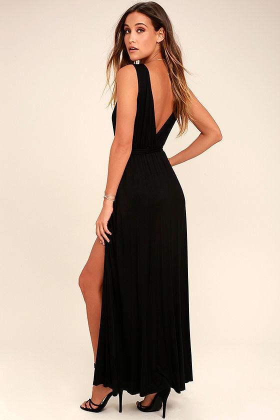 Take a Cruise Black Maxi Dress 3