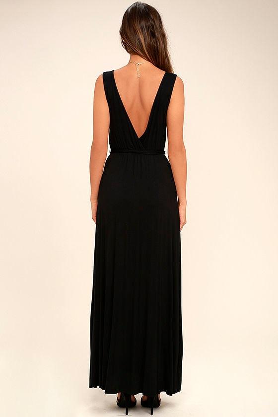 Take a Cruise Black Maxi Dress 4