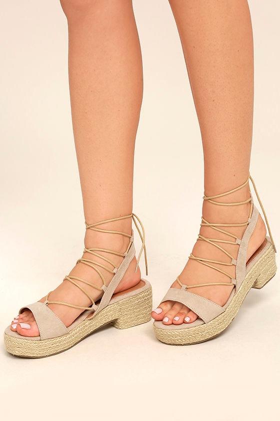 1ab7c2b9062 Bethany Rose Gold Metallic Lace Up Vamp Espadrille Flatform Sandals ...