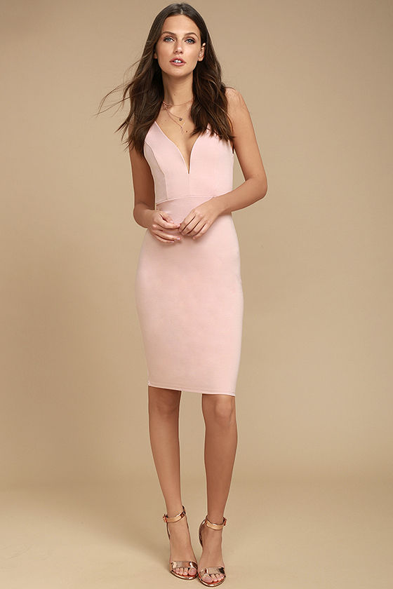 Gracefully Yours Blush Pink Dress 2