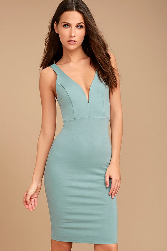 Gracefully Yours Dusty Sage Dress 1