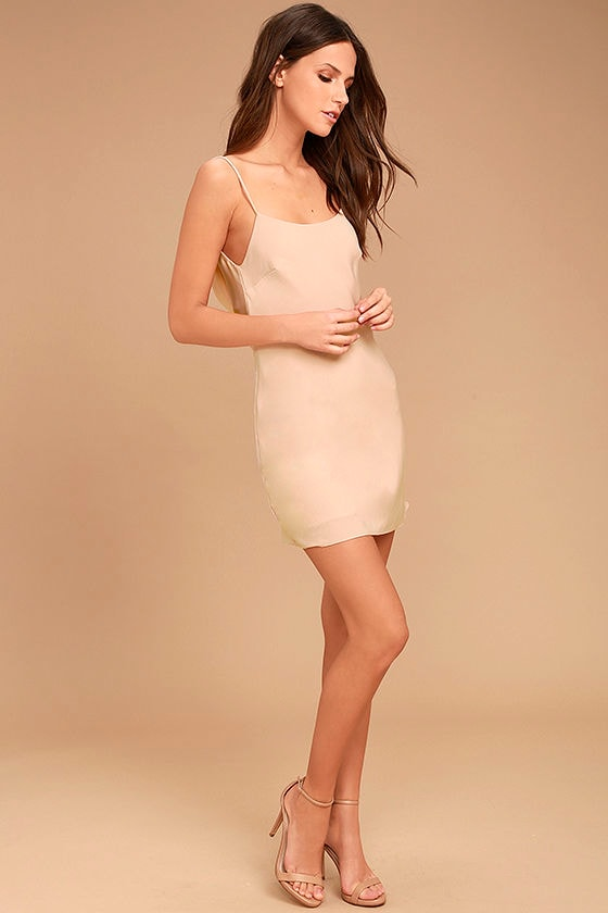 Make a Move Blush Pink Slip Dress 2